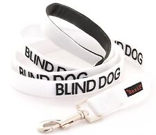 Short Standard Extra Long BLIND DOG White Lead Leash Collar Helpful Walking Aid