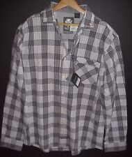 NWT ENGLISH LAUNDRY Mens Long Sleeve Shirt Blaque Label Plaid Shirt Gray XL