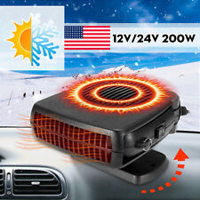 Portable Dc 12V Car Auto Electric Heater Heating Cooling Fan Window #�