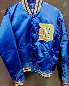 NOS Vintage STARTER Jacket Detroit Tigers Satin NWT, MLB Official License Sz Lrg