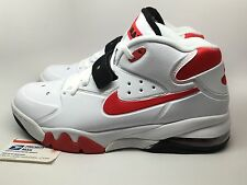 DS Nike Air Force Max Charles Barkley White/Red 1 90 93 95 Atmos jordan Sz 10.5