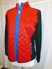 Lauren Ralph Lauren Large Red Quilted Full Zip Long Sleeve Jacket Coat