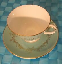 Royal Doulton ~ Melrose # H4955 Turquoise ~ Cup & Saucer ~ England