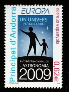 ANDORRA SP. 2009 EUROPA CEPT ASTRONOMY Mi.361 MNH STAMP