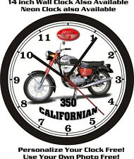 JAWA 350 CALIFORNIAN MOTORCYCLE WALL CLOCK-FREE USA SHIP!