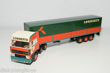 LION CAR DAF 3300 SPACECAB TRUCK WITH TRAILER LOMMERTS NEAR MINT RARE SELTEN