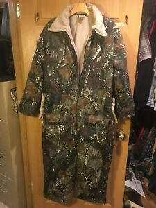 NORTHWEST TERRITORY MENS XL CAMO COVERALLS HUNTING COLD WEATHER REVERSABLE