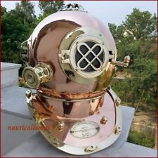 Antiques Collectible Full Size Nautical Iron Divers Nickel Plated Diving Helmet Mark Iv Selling Well All Over The World