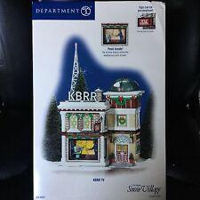Dept 56 Snow Village® KBRR TV - BRAND NEW NEVER DISPLAYED SEALED IN PLASTIC