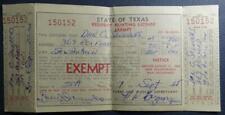 Vintage Resident Texas Hunting License 1966