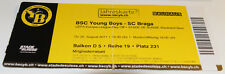 old ticket EC Young Boys Bern - SC Braga 2011 Switzerland Portugal