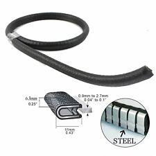 Metal Cilp Rubber Seal Trim Cars Van Truck Door Trunk Engine Edge Protector 3.6M