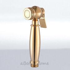 Gold Plated Brass Toilet Hand Held Bidet Douche Shattaf Shower Sprayer Head