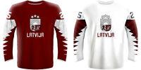 NEW 2020 Latvia Latvija Hockey Jersey GIRGENSONS DZERINS BALCERS INDRASIS NHL