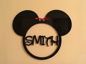 Mickey Mouse Head Monogram Personalized Any Name Disney Sign Hanging Decoration