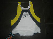 Speedo Mens Running/Triathlon Vest new with tags yellow grey white large