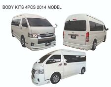 BODY KITS SKIRT SPOILER SET Fit Toyota Hiace Commuter Van 2014-2018 In Silver