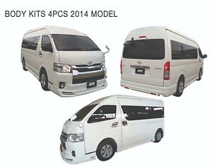BODY KITS SKIRT SPOILER SET Fit Toyota Hiace Commuter Van 2014-2018 In Silver