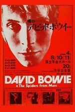 New listing David Bowie & * Spiders from Mars * Japanese Concert Poster 1973 12x18
