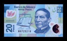 MEXICO 20 PESOS 17.07.2016. PICK 122. SC. UNC (Uncirculated)