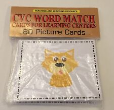 CVC WORD MATCH - Cards for Learning Center 80 Cards-  Teaching supplies