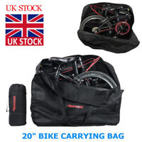 20 inch Folding Bike Travel Bag Transport Bicycle Storage Carrying Case Pouch M