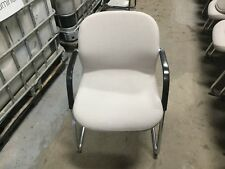 Wilkhahn Beige/Silver Ergonomic Waiting Room Chair Comfy - Slight Tears in Back