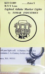 Tomar Industries #O-809 Lighted Adlake Marker Lights R-Y-Y (Bulb Lighting)