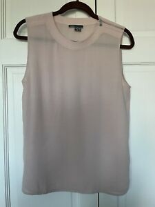 Vince Womens Medium Pink Silk Tank Top Blouse M