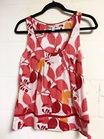 American Eagle Size 6 Red Floral Tank Top Women's