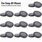 10PCS Front Body + Rear Lens Cap Cover for Sony Alpha A Mount AF DSLR Camera Lot