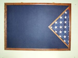 Military Uniform Display Case / Burial Flag Case / Military Awards And Flag Case