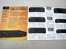 Marantz 1998 CD player / cassette deck / amplifier / radio tuner brochure