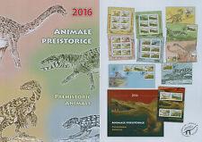 Rumänien 2016 Prähistorische Tiere,Dinosaurier Mi.7027-30,Zf.,KB,Block 649,FDC