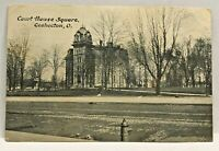 Vintage Postcard Court House Coshocton Ohio c.1907-1915