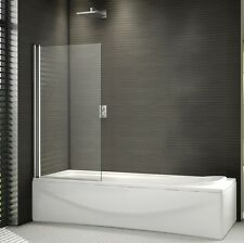 800x1400mm 180° Pivot Shower Bath Screen Frameless Over 6mm Glass Door Panel
