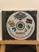 Used ~ Art Explosion Seasons, Events & Holiday Computer Software CD-ROM 2001