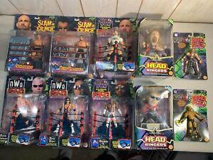 WWE Figure Lot of 10 WCW Toy Biz Figures NEW Sealed Vintage NWO WWF NO RESERVE