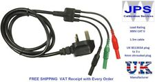 Megger Mains Plug Replacement Test Lead Set MFT 1552 1553  MFT1553 JPSS003