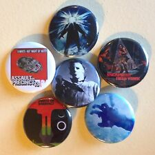 "John Carpenter set of 6 pin back buttons 1.25"" Halloween Thing Precinct Escape"