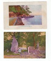 Japan 2 old postcards circa 1920's?