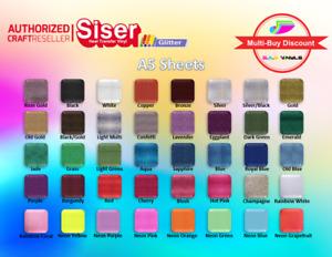 A5 sheets - Siser Easyweed Glitter PREMIUM HTV Vinyl IRON ON
