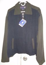 New NAT NAST-50s Style! Black Brown ROCKABILLY Jacket 85% Silk Blend YKK Zip LXL
