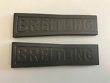 NEW OEM BREITLING TWIN PRO III B55 SILVER GRAY RUBBER STRAP 24-20 245S