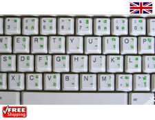 Thai Transparent Keyboard Stickers With Green Letters For Laptop PC Computer