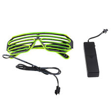 Flashing LED Light Up Slotted Shutter Shades Sunglasses Glow Party Club Glasses