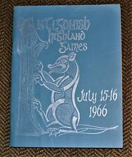VTG 1966 Antigonish Highland Games Program & Dance Entries Society
