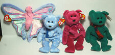 TY BEANIE BABIES LOT 1999 Valentina Wallace Holiday Teddy BEAR Flitter Butterfly