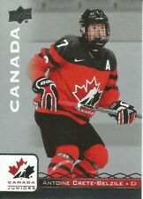 Antoine Crete-Belzile #74 - 2017 Team Canada Juniors - Base Men