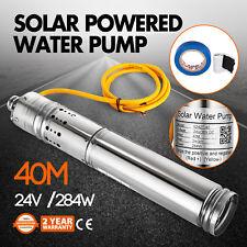 Pompe A Eau Solaire Pour 24v Dc 284w 2m3/H Submersible Pompe Puits Inox